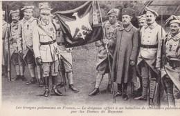Les Troupes Polonaises En France - Le Drapeau Offert à Un Bataillon De Chasseurs Polonais Par Les Dames De Bayonne - Autres