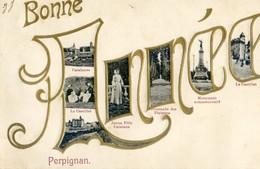 66 - Perpignan - Bonne Année - Multivue - Perpignan