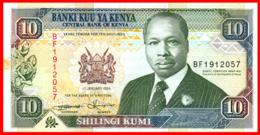 KENYA 10 SHILLINGS 1.994 PIK 24f EBC - Kenya