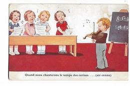 """Signée  John  Wills    -  """"  Quand  Nous  Chanterons  Le  Temps  Des  Cerises ..... ( Air  Connu  ) - Kindertekeningen"""