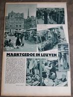 1 Blz Uit Tijdschrift 1934: Marktgedoe In Leuven Louvain (keerzijde Sport:  Wielrennen, Hockey,...) - Leuven