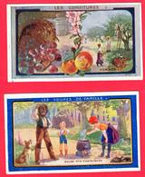 Lot De 2 CHROMOS - Ets AU PLANTEUR De CAÏFFA - Les SOUPES De FAMILLE N° 6- Les CONFITURES N° 35 =>2 SCANS - Other