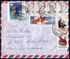 Chile Vina De Mar 1985 / Children, Juan Luis Sanfuentes, Conepatus Chunga, Lutra Felina, Animals / Air Mail - Chili