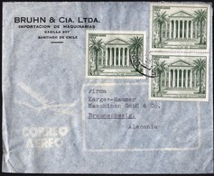 Chile Santiago 1961 / 150th Anniversary Of 1st National Congress / Bruhn &Cia. / Air Mail - Chili