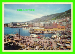 BERGEN, NORVÈGE - MARKET PLACE, IN BACKGROUND THE HANSEATIC QUAY - FORO, NORMANN - ANIMATED WITH OLS TRUCKS - - Norvège