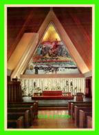 HARSTAD, NORVÈGE - THE INTERIOR OF HARSTAD CHURCH, FACING THE ALTAR-PIECE - KNUT AUNE - - Norvège