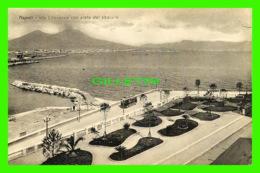 NAPOLI, ITALIA - VIA LITORANEA CON VISTA DEL VESUVIO - EDIZ. DOMENICO TRAMPETTI - - Napoli (Naples)