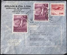 Chile Santiago 1962 / Football World Cup, Airplane / Bruhn &Cia. / Air Mail - Chili