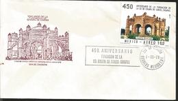 J) 1978 MEXICO, 450th ANNIVERSARY OF THE CITY FOUNDATION OF CHIAPAS DE CORZO, CHIAPAS, FDC - Mexique
