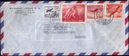 Chile Santiago 1964 / Football World Cup 1962, Airplane / Quimicas Unidas / Air Mail - Chili