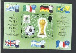 JERSEY 2006 FIFA WORLD CUP COPPA DEL MONDO GERMANY GERMANIA BLOCK SHEET BLOCCO FOGLIETTO MNH - Jersey