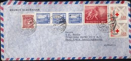 Chile Santiago 1965 / Volcan Choshuenco, Francisco A. Pinbto, Football World Cup 1962, Red Cross / Air Mail - Chili