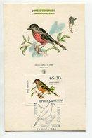 TARJETA FDC ZORSAL COLORADO OBLITERACION DIA DE EMISION 1972 LA PLATA ARGENTINA -LILHU - Birds