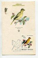 TARJETA FDC JILGUERO OBLITERACION DIA DE EMISION 1972 LA PLATA ARGENTINA -LILHU - Birds