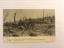 -postkaart, Leuven Wilsele Verwoeste Brug, Gelopen 1906, Zegel 1 Cent Nr, 53 - Leuven