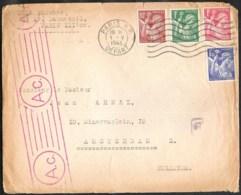 FRANCE 1943 Lettre Censuré Avec Yvert 431/434 De Paris Vers Amsterdam (NL) - Frankrijk