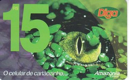 TARJETA DE BRASIL DE UN COCODRILO (COCODRILE) - Brasil