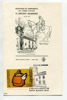 TARJETA FDC BICENTENARIO DEL PRIMER CARTERO D. B. RAMIREZ OBLITERACION DIA DE EMISION 1972 BAHIA BLANCA ARGENTINA -LILHU - Profesiones