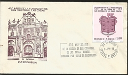 J) 1978 MEXICO, 450 YEARS OF THE FOUNDATION OF SAN CRISTOBAL DE LAS CASAS, CHIAPAS, FOUNDATION BY DIEGO DE MAZARIEGOS, T - Mexique