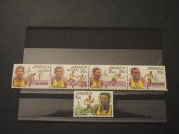 JAMAYCA - 1980 OLIMPIADI 5 VALORI - NUOVI(++) - Giamaica (1962-...)