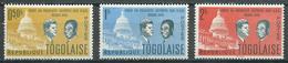 Togo YT N°365-366-367 Visite Du Président Olympio Aux U.S.A. Neuf/charnière * - Togo (1960-...)