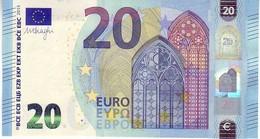 20 Euros 2015 Serie UB, U010A3, N° UB 8216262317,  Signature 3 Mario Draghi UNC - EURO