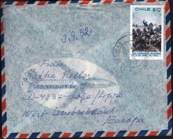 Chile 1982 / 1980 Cavalry Charge Led By Colonel Santiago Bueras At Battle Of Maipu, 1818 / Air Mail - Chili