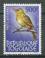 Togo Poste Aérienne YT N°42 Oiseau Trachyphonus Margaritaceus Oblitéré ° - Togo (1960-...)
