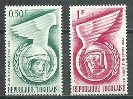Togo YT N°350-351 Conquête De L'espace Neuf/charnière * - Togo (1960-...)