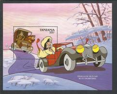 TANZANIA 1990 WALT DISNEY CRUELLA DE VIL'S CAR CRUDELIA DEMON AUTO SHEET BLOCK BLOCCO FOGLIETTO MNH - Tanzanie (1964-...)