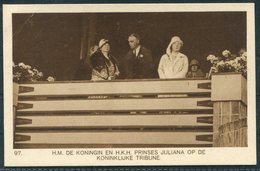 1928 Amsterdam Olympics Official Postcard 97 Royalty - Olympic Games