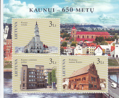 2011 Lithuania Kaunas Buildings Souvenir Sheet Complete Set Of 1 MNH - Architecture