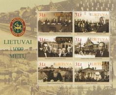 2008 Lithuania 1000 Anniversary Souvenir Sheet Complete Set Of 1 MNH - Lituanie