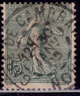 France, 1903-38, Sower, 15c, Sc#139, Used - 1903-60 Säerin, Untergrund Schraffiert