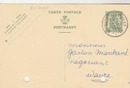 Chateau De Roumont Par Baconfoy ,carte Publicitaire Envoyée Par Melle G. De Halleux ; VOIR VERSO - Libin