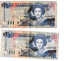 Billet Eastern Caribbean  10   Lot De 2  BE - Caraïbes Orientales