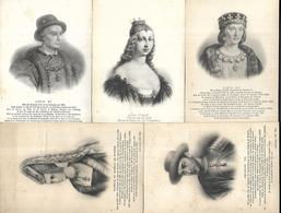 CP1019 Lot De 27 CPA Sur Les Rois Et Reines De France De 1371 à 1644 Neuves - Sonstige
