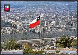 Chile Santiago 1978 / Panorama / Flag - Chile