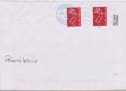 Néopost Nouméa Sud Nouvelle Calédonie Du 08-11-17 (enveloppe Légèrement Froissée Dù à Un Mauvais Collage Du Rabat) - Marcofilie (Brieven)
