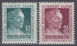 FranzZone WÜRTTEMBERG 47-48, Ungebraucht *, Gustav Werner 1949 - Zone Française