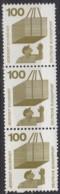 BRD  702 A Rd 3erStreifen Mit Bl. Zählnummer, Postfrisch **, Unfallverhütung 1971 - [7] República Federal