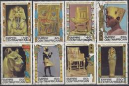 ZENTRALAFRIKANISCHE REPUBLIK 578-585, Gestempelt, Schätze Aus Dem Grab Des ägyptischen Königs Tut-ench-Amun 1978 - Repubblica Centroafricana