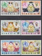 LIBERIA 882-887, Gestempelt, 25 Jahre Weltgesundheitsorganisation (WHO) 1973 - Liberia