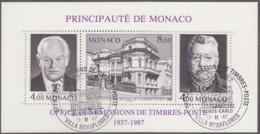 MONACO Block 37 A, Gestempelt, 50 Jahre Amt Für Briefmarkenausgaben 1987 - Blocks & Kleinbögen