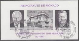 MONACO Block 37 B, Gestempelt, 50 Jahre Amt Für Briefmarkenausgaben 1987 - Blocks & Kleinbögen