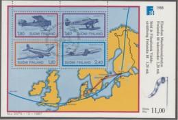 FINNLAND, Block 4, Gestempelt, Int. Briefmarkenausstellung FINLANDIA '88, Helsinki (IV): Flugpostbeförderung 1988 - Finlande