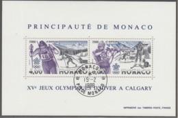 MONACO, Block 38, Gestempelt, Olympische Winterspiele, Calgary 1988 - Blocks & Kleinbögen