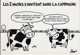 """Carte Sur La  Lutte Contre Le Réchauffement Climatique """" Les 2 Vaches """" - Events"""