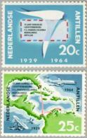 Ned Antillen 1964 Herdenking Luchtvaart NVPH 345, MNH** Postfris - Curacao, Netherlands Antilles, Aruba