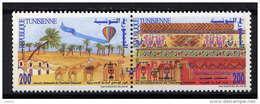 TUNISIE - N° 1281/1282** - JOURNEE NATIONALE DU TOURISME SAHARIEN - Tunisie (1956-...)